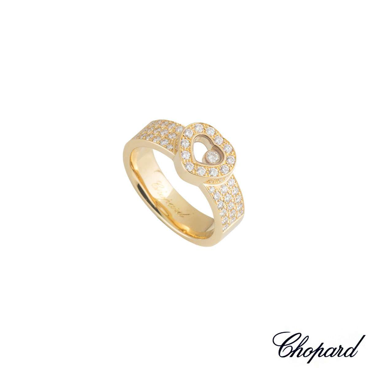 Chopard Yellow Gold Happy Diamonds Ring 822937-0110
